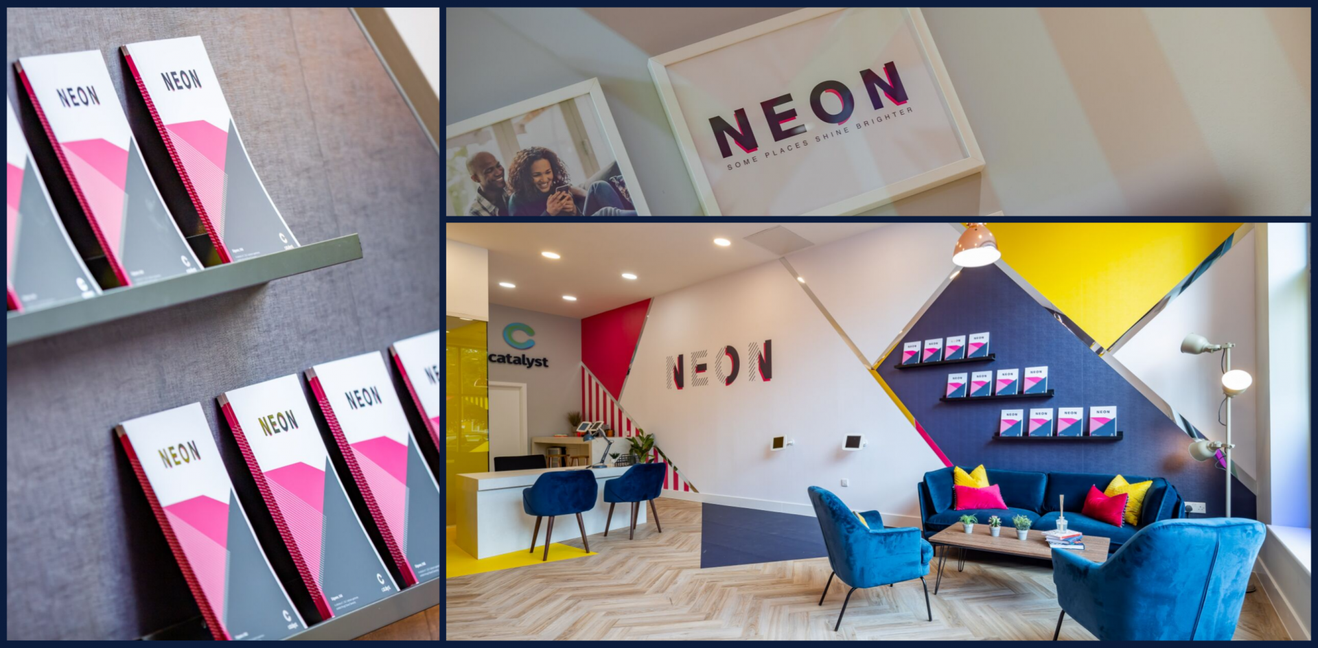 The marketing suite for NEON, Cataylst designed with persona intelligence